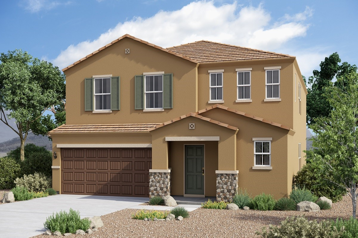 New Homes in Glendale, AZ - Marbella Ranch Plan 2575 Elevation C (With Stone)