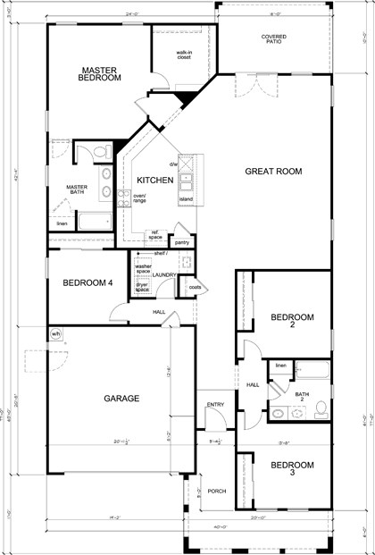 New Homes in Glendale, AZ - Plan 2014, First Floor