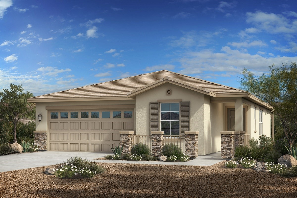 New Homes in Phoenix, AZ - Park Meadows II Plan 1547 Elevation C (With Stone)