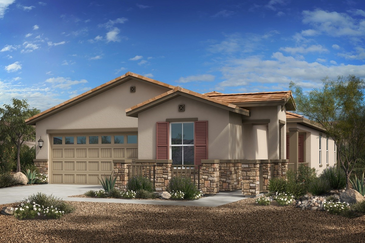 New Homes in Phoenix, AZ - Park Meadows II Plan 1841 Elevation C (With Stone)