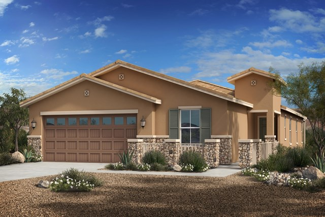 New Homes in Phoenix, AZ - Plan 1953 Elevation C (With Stone)
