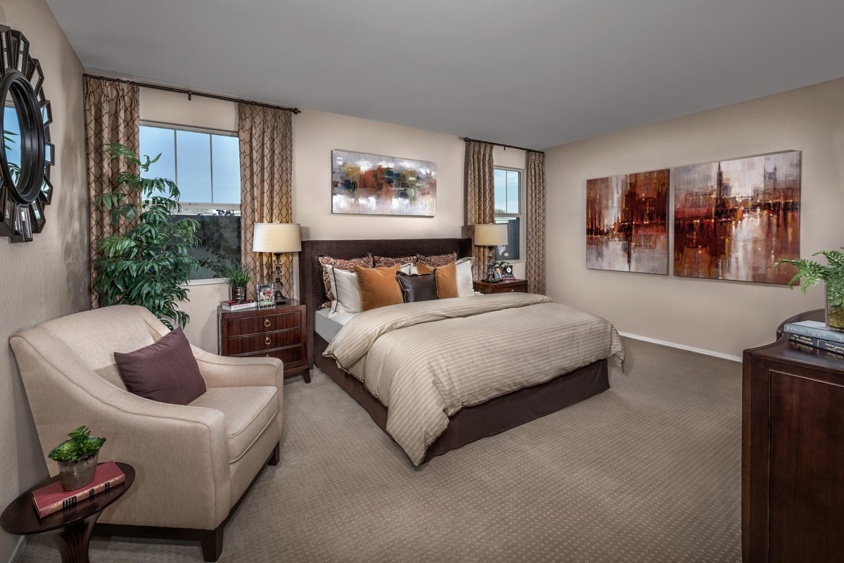 New Homes in Chandler, AZ - The Villas at Paseo Place Plan 1483 Master Bedroom
