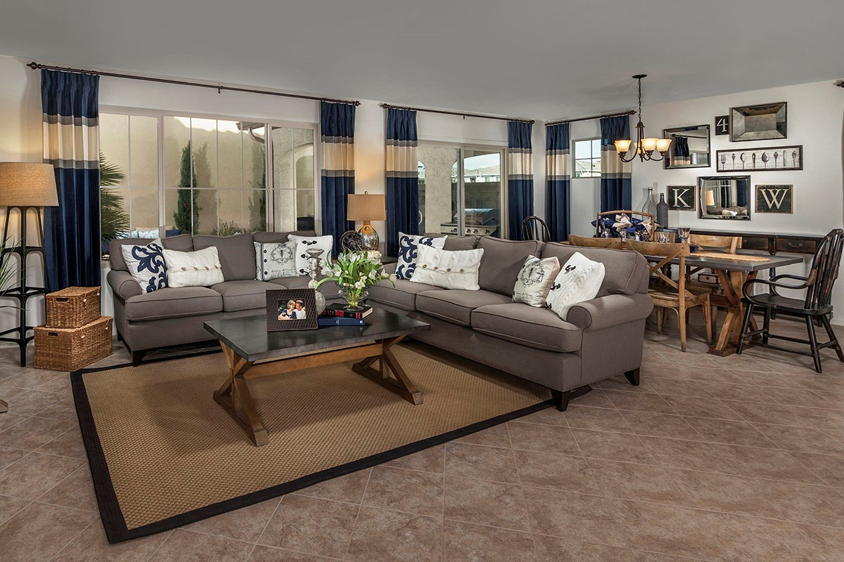 New Homes in Chandler, AZ - The Villas at Paseo Place Plan 2270 Great Room