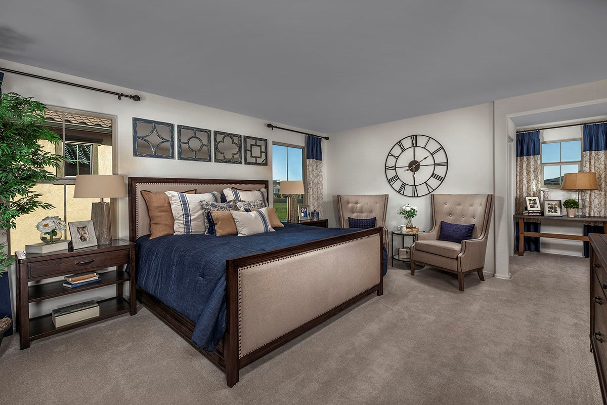 New Homes in Chandler, AZ - The Villas at Paseo Place Plan 2270 Master Bedroom