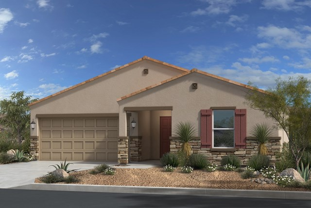 New Homes in Gold Canyon, AZ - Plan 1476 Elevation C (with Stone)