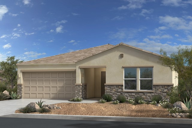 New Homes in Gold Canyon, AZ - Plan 1638 Elevation C (with Stone)
