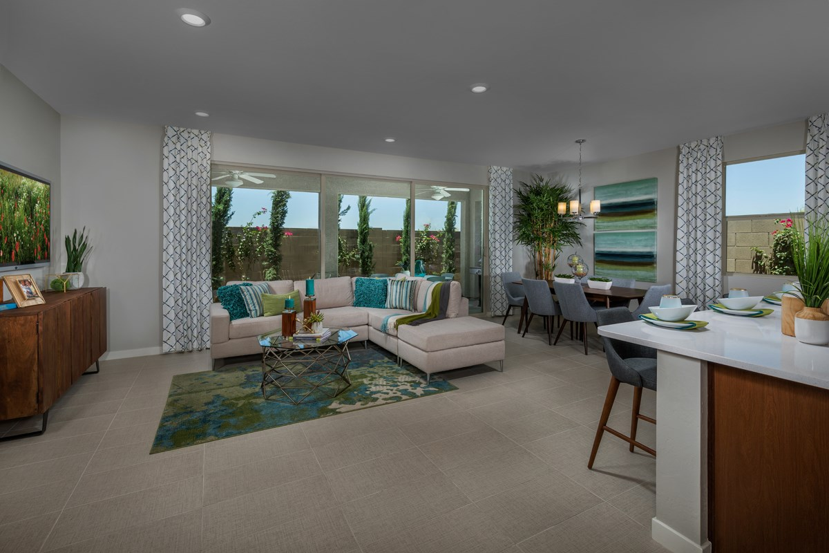 New Homes in Phoenix, AZ - The Villas at Rancho Paloma Plan 1527 Great Room