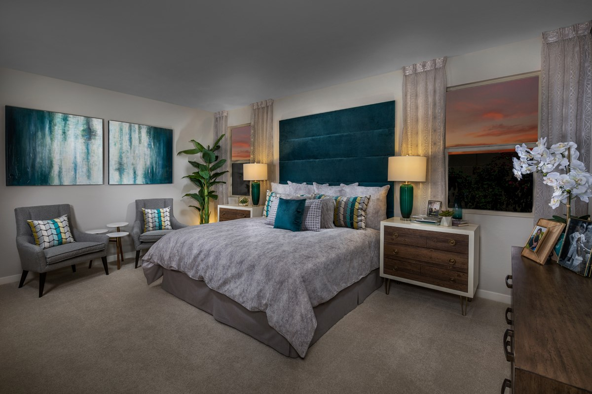 New Homes in Phoenix, AZ - The Villas at Rancho Paloma Plan 1527 Master Bedroom