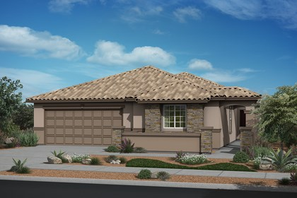 New Homes in Surprise, AZ - Elevation B (With Optional Stone)