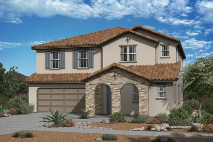 New Homes in Surprise, AZ - Elevation A (With Optional Stone)