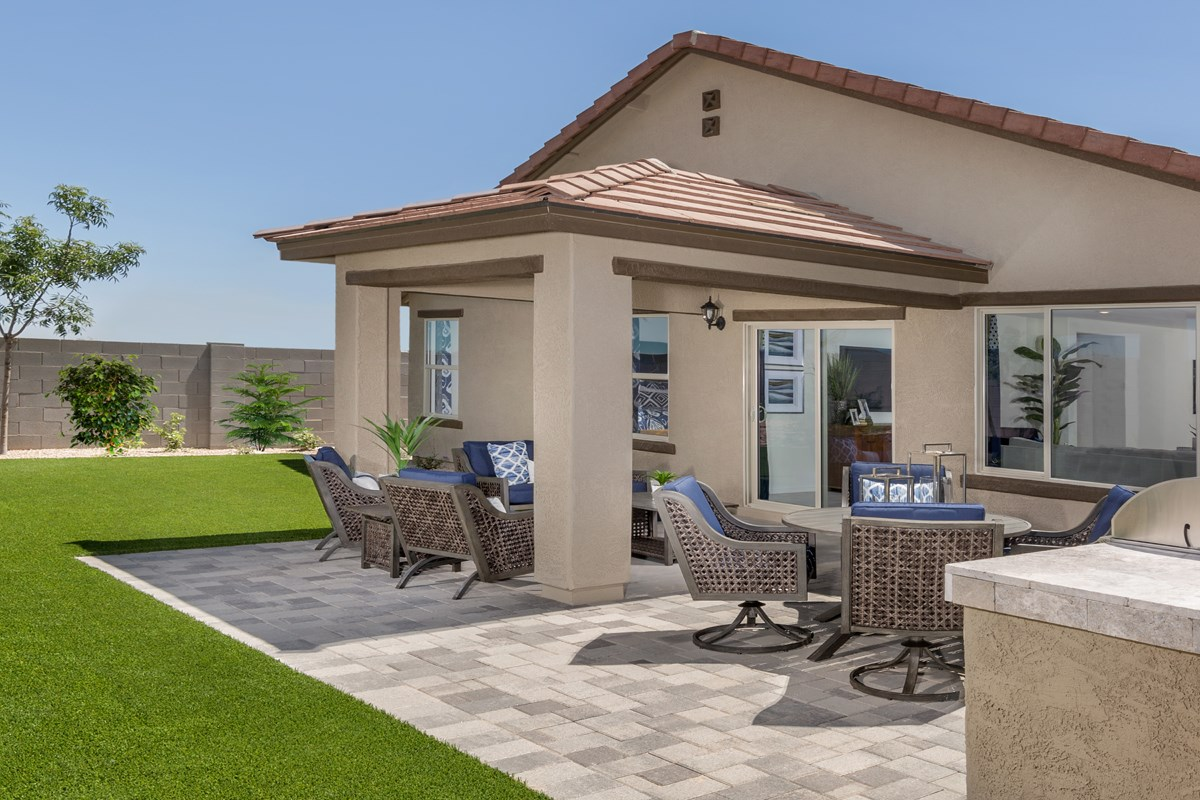 New Homes in Surprise, AZ - Sanverno at Desert Oasis Plan 2188 Patio