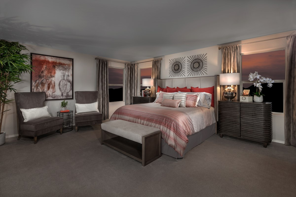 New Homes in Surprise, AZ - Sanverno at Desert Oasis Plan 2608 Master Bedroom