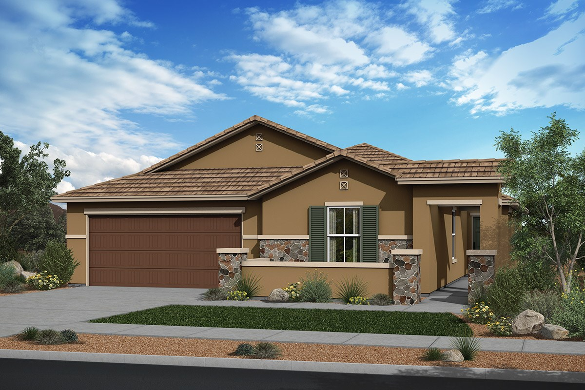 New Homes in Surprise, AZ - Sanverno at Desert Oasis Plan 2002 Elevation C