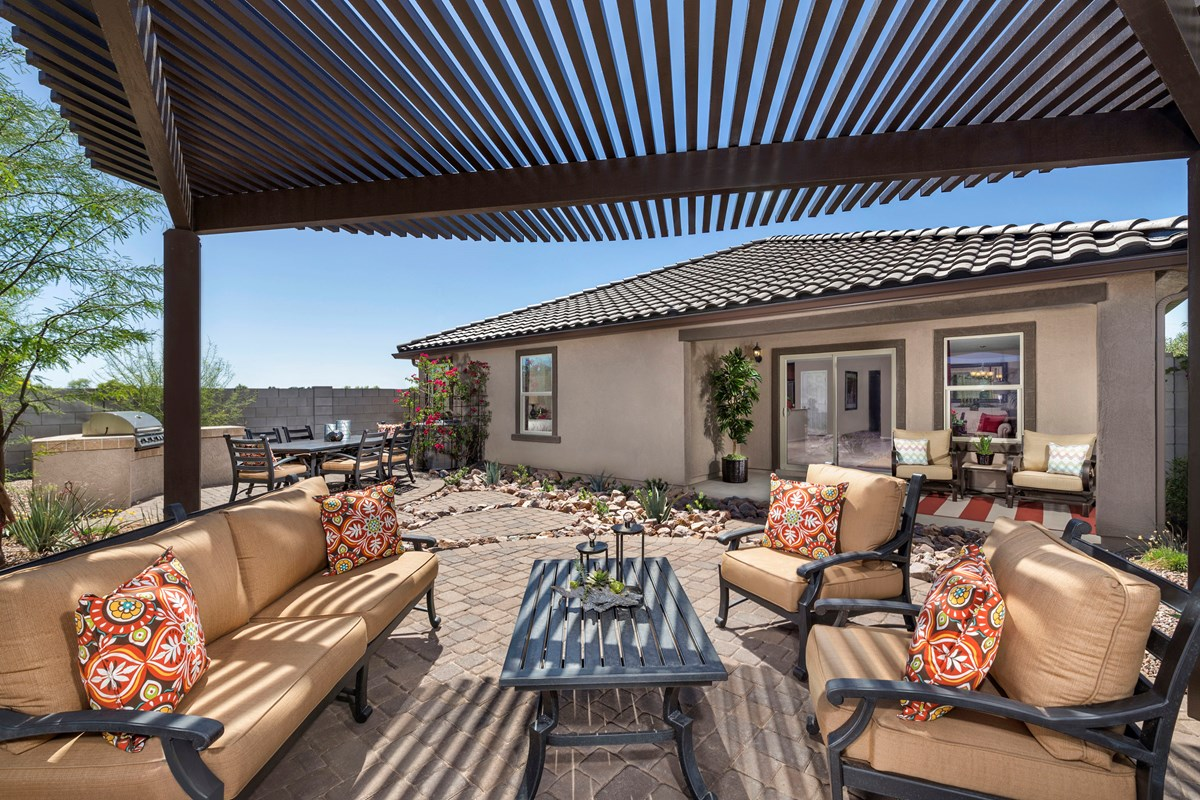 New Homes in Gilbert, AZ - Segretto Plan 1958 Patio