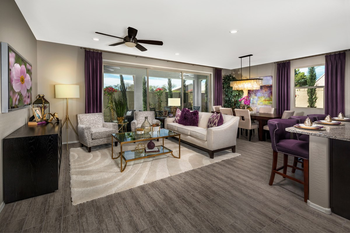 New Homes in Mesa, AZ - The Villas at Sonoran Ridge Plan 1589 Great Room