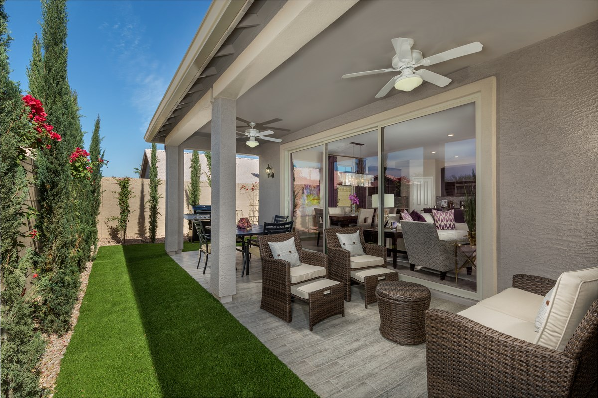 New Homes in Mesa, AZ - The Villas at Sonoran Ridge Plan 1589 Patio