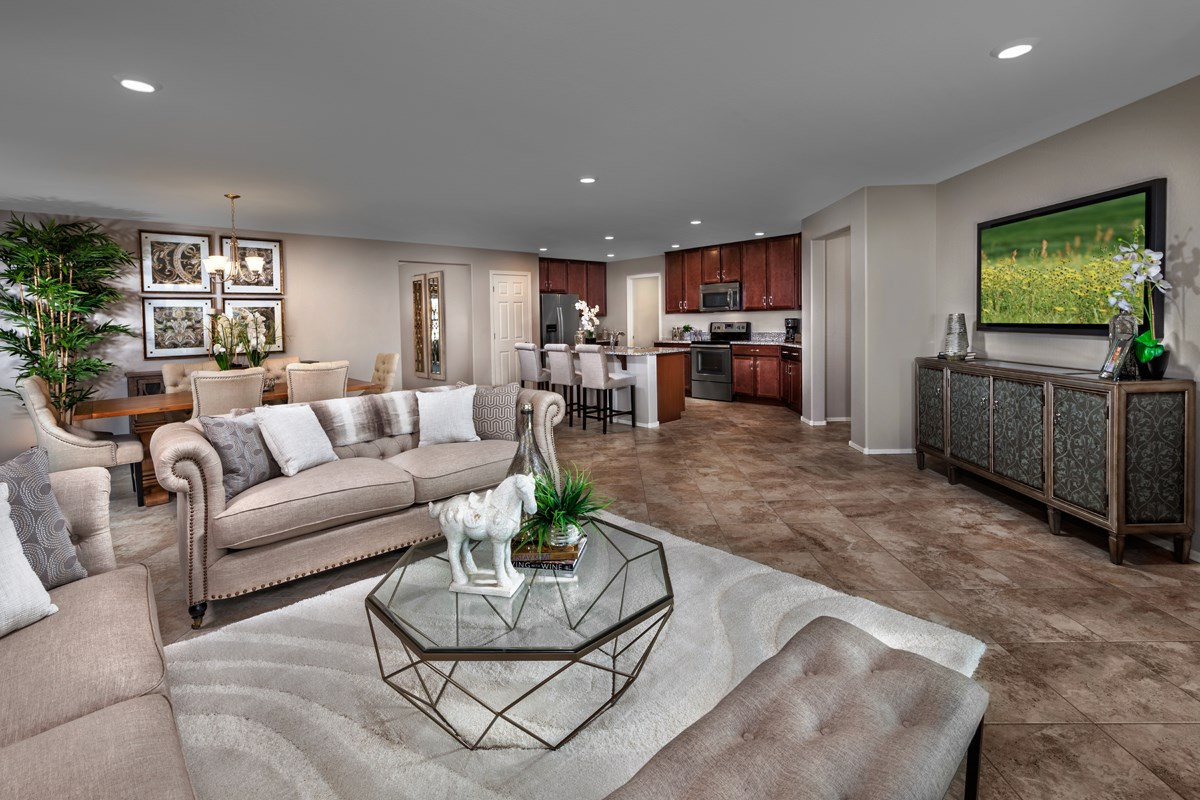 New Homes in Goodyear, AZ - Stone Canyon at Estrella Plan 1867 Greatroom