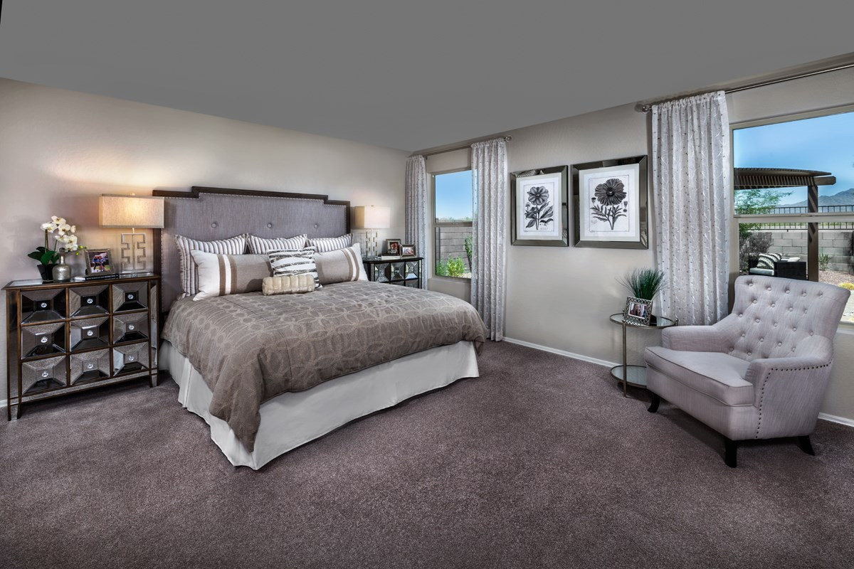 New Homes in Goodyear, AZ - Stone Canyon at Estrella Plan 1867 Master Bedroom