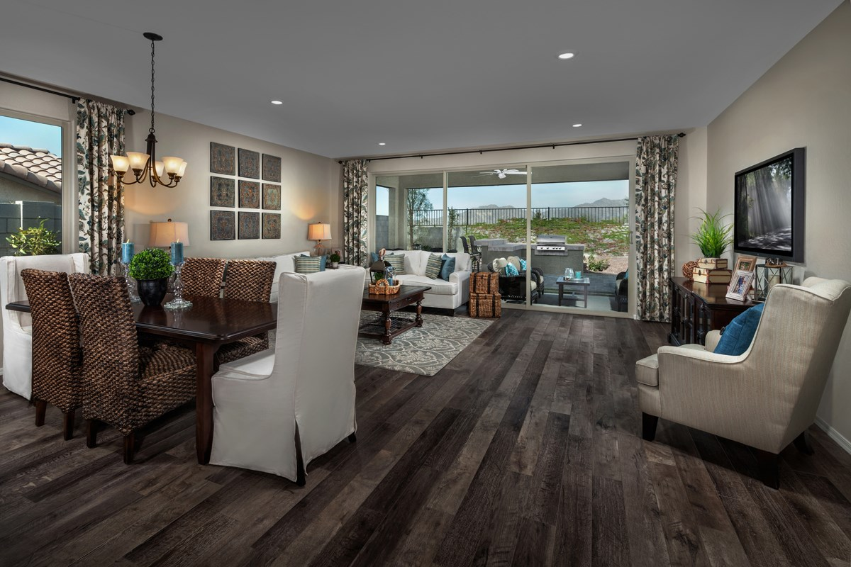 New Homes in Goodyear, AZ - Stone Canyon at Estrella Plan 2201 Great Room