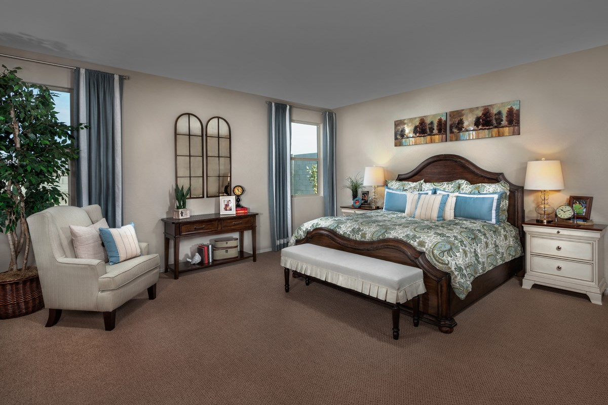 New Homes in Goodyear, AZ - Stone Canyon at Estrella Plan 2201 Master Bedroom