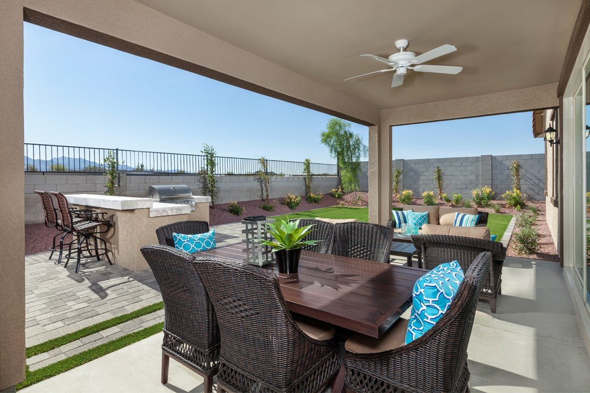 New Homes in Goodyear, AZ - Stone Canyon at Estrella Plan 2201 Patio
