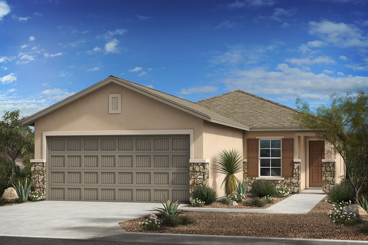 New Homes in Tucson, AZ - Arroyo Reserve Plan 1465 Elevation C (with optional stone)