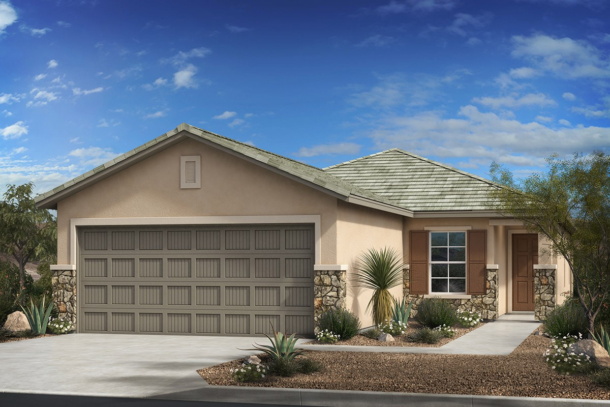 New Homes in Tucson , AZ - Dakota Vista Plan 1465 Elevation C with optional stone