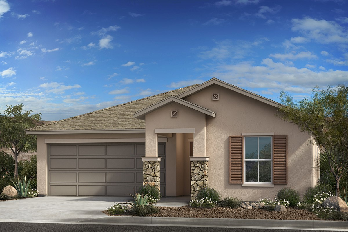 New Homes in Tucson , AZ - Desert Point  Plan 1584 Elevation C (with optional stone)