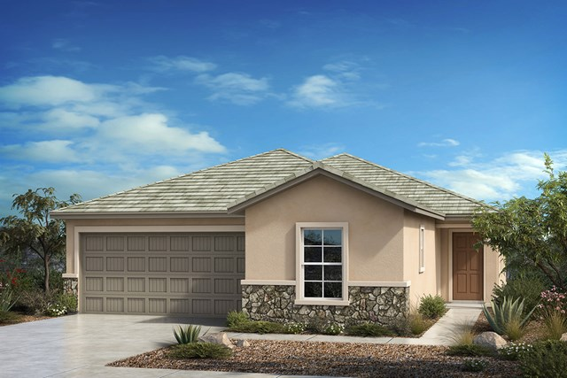 New Homes in Tucson , AZ - Elevation C with optional stone