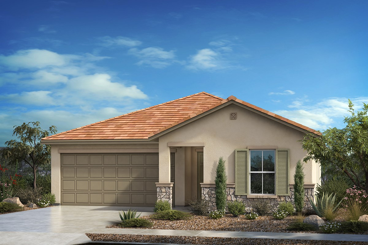 New Homes in Tucson, AZ - Hardy Preserve Plan 1584 Elevation C (with optional stone)