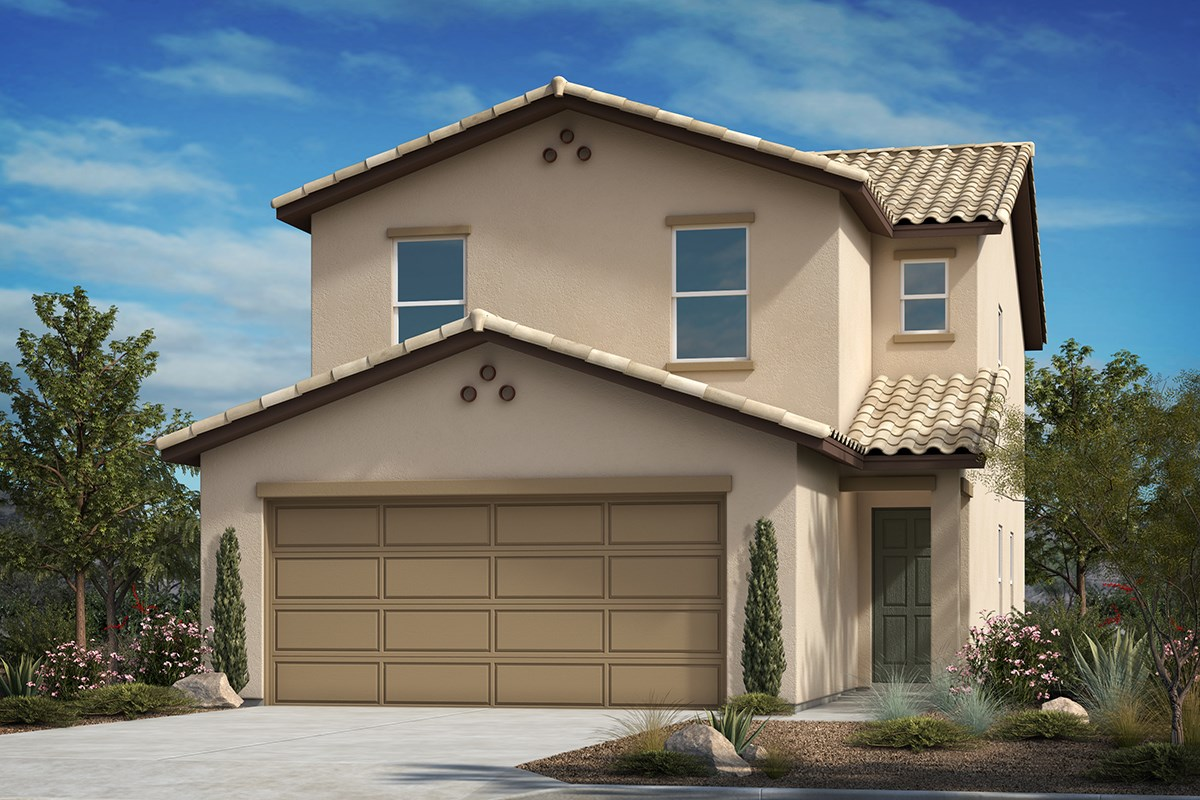 New Homes in Tucson, AZ - La Cholla Station  Plan 2108 Elevation A