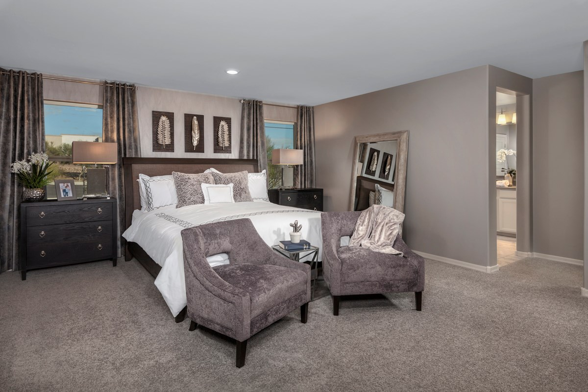 New Homes in Tucson, AZ - La Cholla Station 2467 Master Bedroom