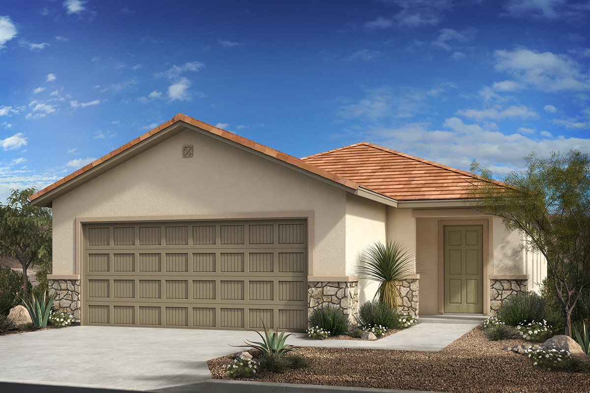 New Homes in Tucson, AZ - Montaretto Estates Plan 1231 Elevation C (with optional stone)