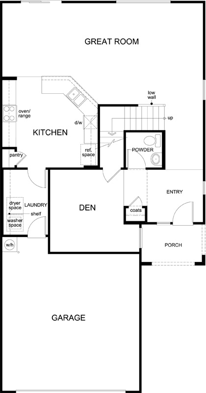 Plan 2212 mountain vail reserve kb home for Tucson home builders floor plans
