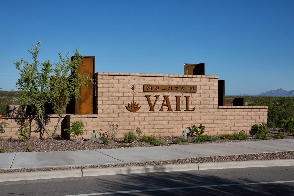New Homes in Tucson, AZ - Mountain Vail Reserve II Entry Monument