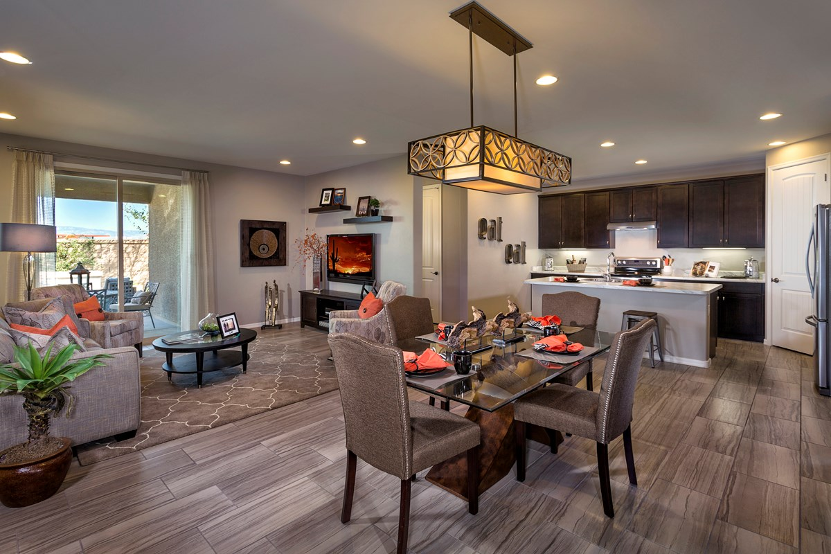 New Homes in Tucson, AZ - Mountain Vail Reserve 1465 Great Room
