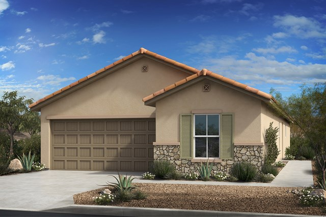 New Homes in Tucson, AZ - Elevation C (with stone)