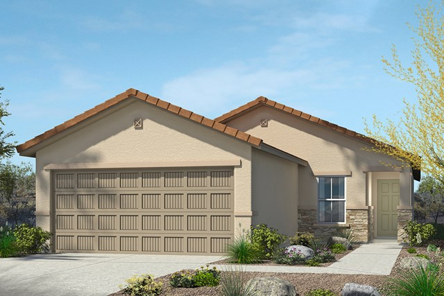 New Homes in Tucson, AZ - Elevation C With Stone
