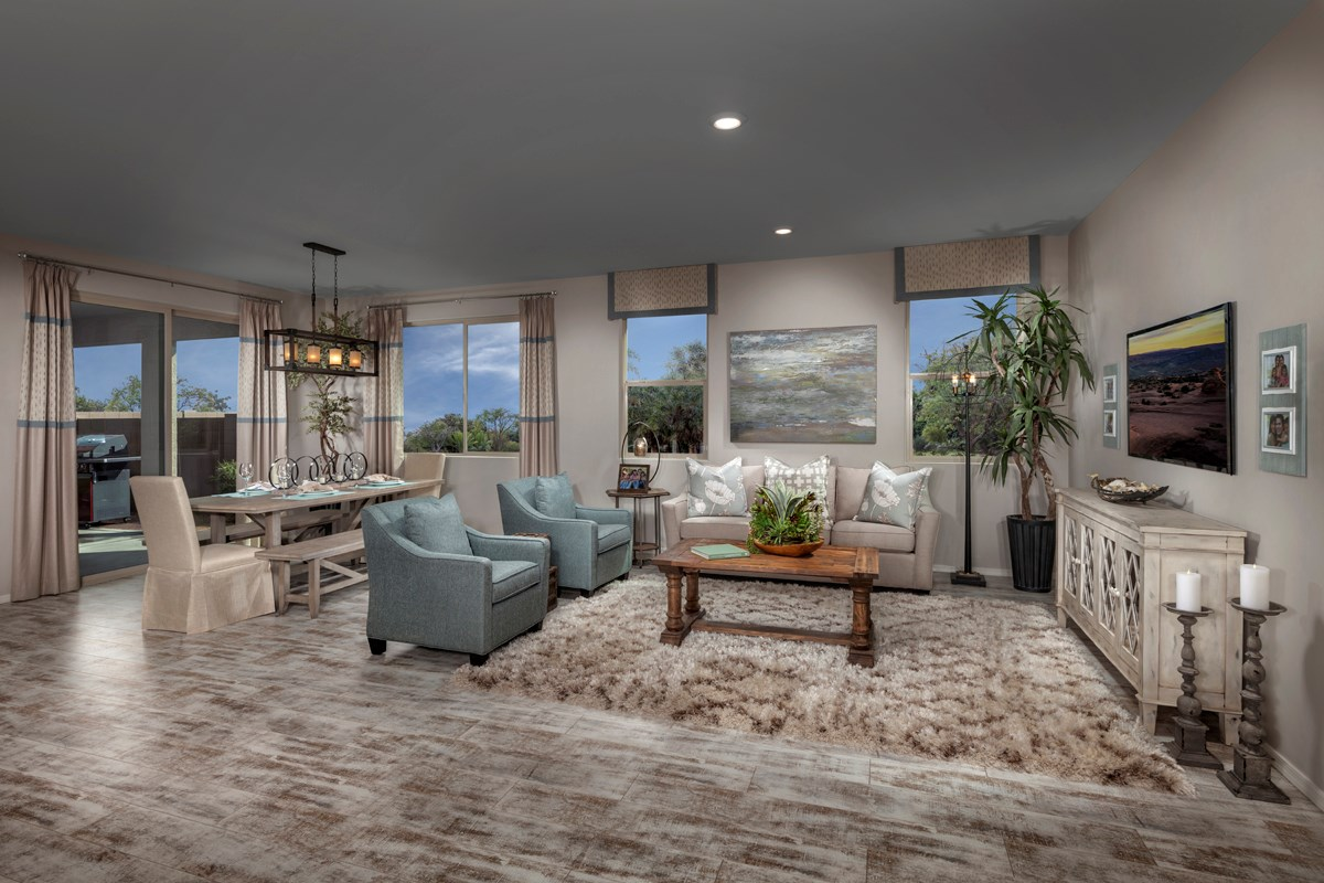 New Homes in Tucson, AZ - Oakmore Reserve 1740 Great Room