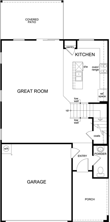 Plan 2010 new home floor plan in oakmore reserve by kb home for Tucson home builders floor plans