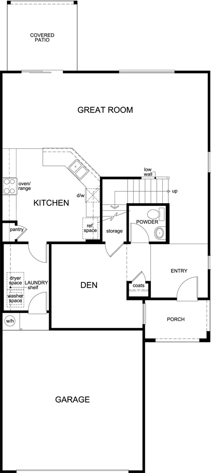 Plan 2212 new home floor plan in oakmore reserve by kb home for Tucson home builders floor plans