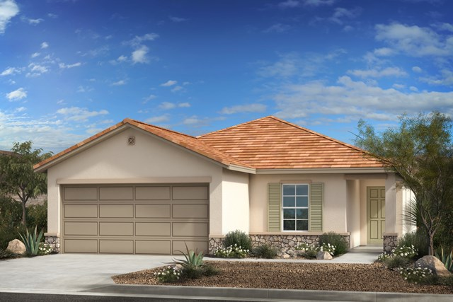 New Homes in Vail, AZ - Elevation C with optional stone