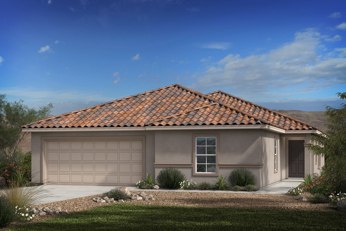 New Homes in Vail, AZ - Estates at Rancho Del Lago  Plan 2013 Elevation B