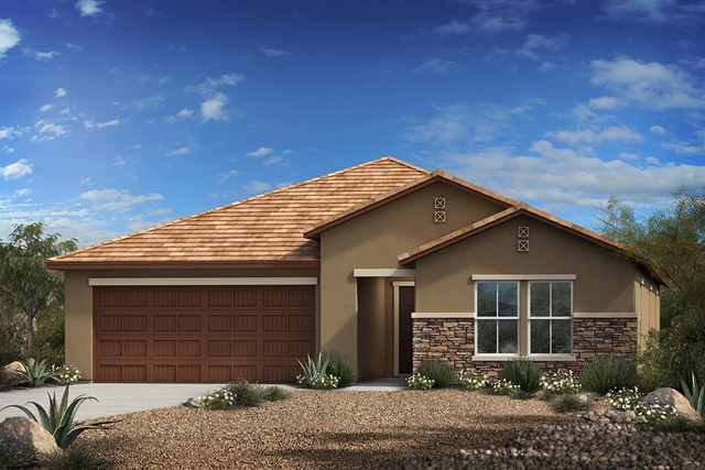 New Homes in Vail, AZ - Elevation C (With Optional Stone)