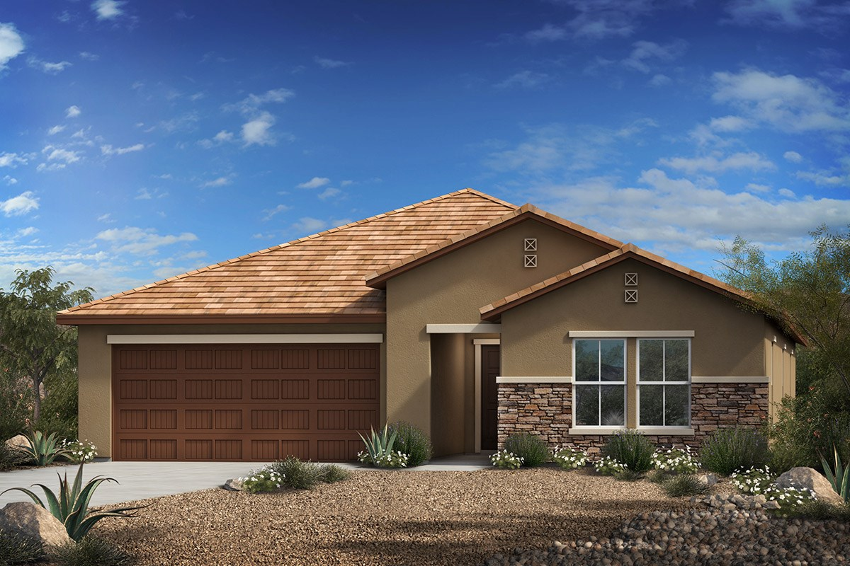 New Homes in Vail, AZ - Estates at Rancho Del Lago  Plan 2314 Elevation C (With Optional Stone)
