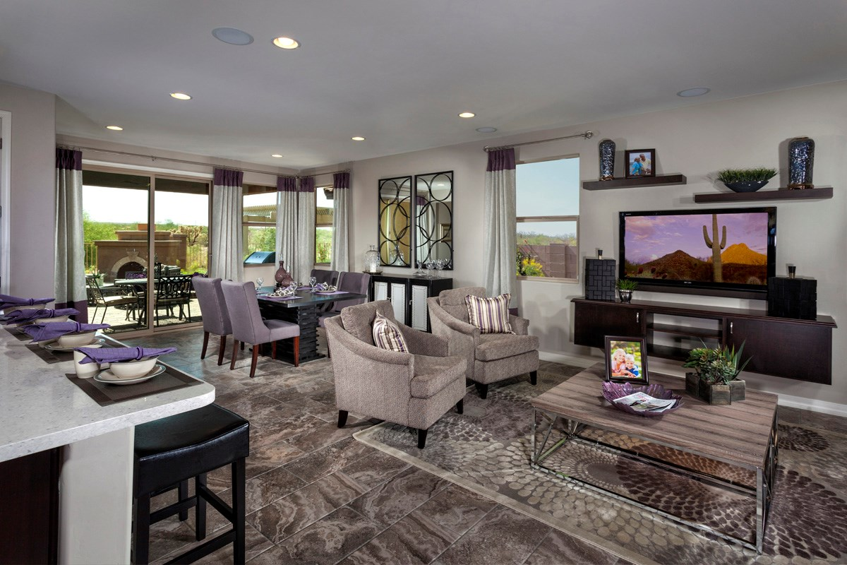 New Homes in Sahuarita, AZ - Presidio Porvenir at Rancho Sahuarita Plan 1791 Great Room