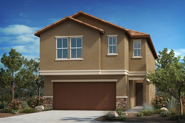 New Homes in Tucson , AZ - Elevation C (With Optional Stone)