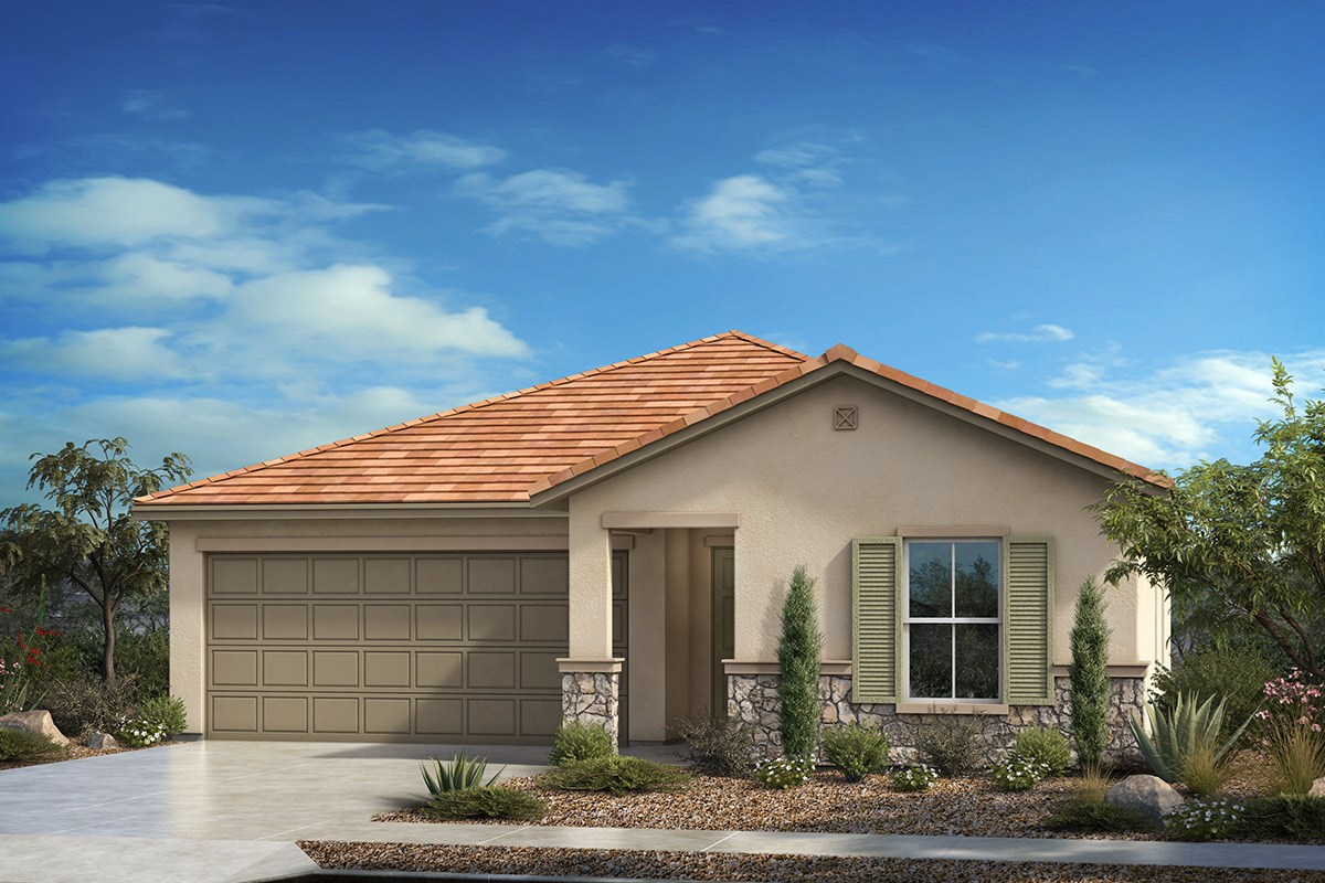 New Homes in Vail, AZ - Santa Rita Ranch II Plan 1584 - Tuscan 'C' (with optional stone)