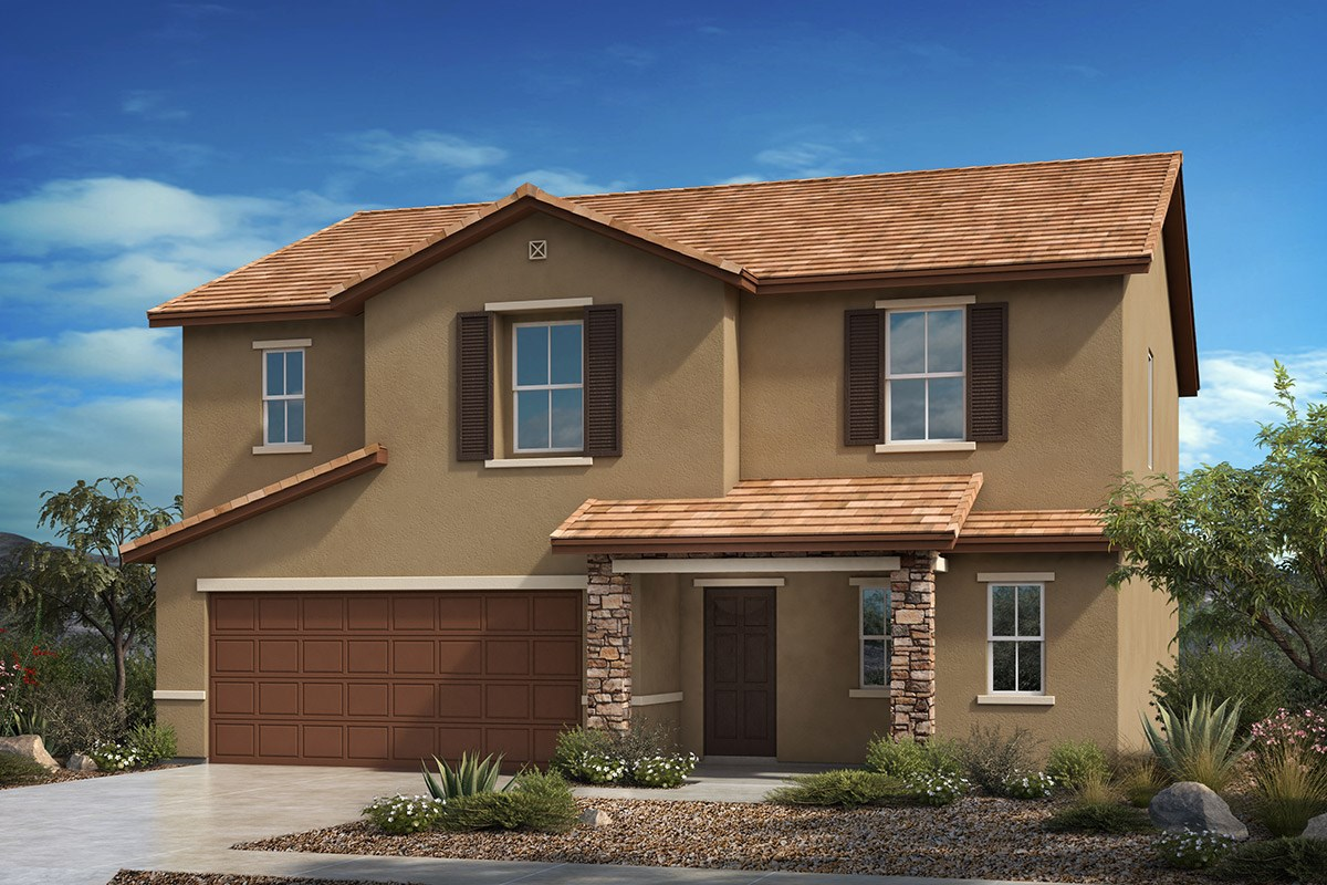 New Homes in Vail, AZ - Santa Rita Ranch II Plan 2268 - Tuscan 'C' (with optional stone)