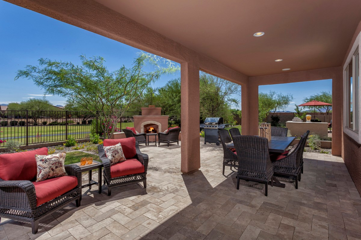New Homes in Marana, AZ - KB Home at Gladden Farms Plan 2723 Outdoor Living